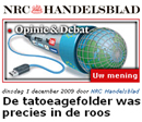 Tatoeagefolder was precies in de roos
